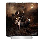 Artemis Goddess Of The Hunt Shower Curtain