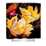 Artful Maple Leaves Shower Curtain