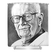 Arthur C. Clarke Shower Curtain