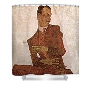 Arthur Roessler Shower Curtain by Egon Schiele