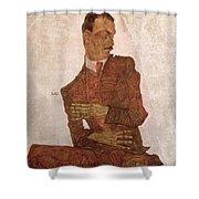 Arthur Roessler Shower Curtain by Egon Schiele