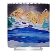 Artic Lake Shower Curtain