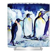 Arctic Penquins Shower Curtain