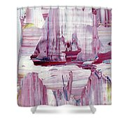 Artic Sailing Shower Curtain