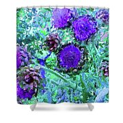 Artichoke Blues Shower Curtain