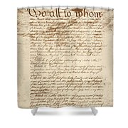 Articles Of Confederation Shower Curtain