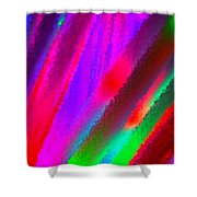 Artificial Rainbow Shower Curtain