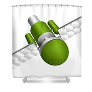 Artificial Satellite Shower Curtain