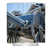 Artillery In Front Of The Armory Shower Curtain