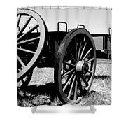 Artillery Wagon Shower Curtain