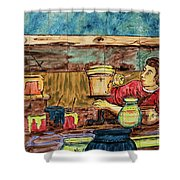 Artisan Market La Mariscal In Quito  Shower Curtain