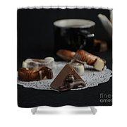 Artisanal Belgian Chocolate Shower Curtain
