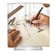 Artist At Work - Michelle Wie Part 1 Shower Curtain