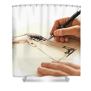 Artist At Work - Michelle Wie Part 3 Shower Curtain