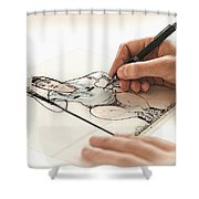 Artist At Work - So Yeon Ryu Part 3 Shower Curtain