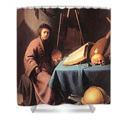 Artist In His Studio 1632 Shower Curtain