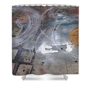Artist Sidewalk 3 Shower Curtain