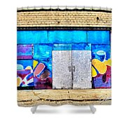 Artist Village Wall Shower Curtain