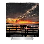 Artistic Black Sunset Shower Curtain