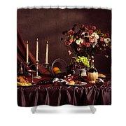 Artistic Food Still Life Shower Curtain