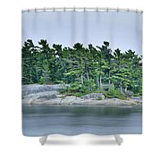 Artistic Granite And Trees  Shower Curtain