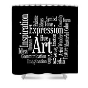 Artistic Inspiration Shower Curtain