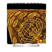 Artistic Led Lights Christmas Decoration At Sol In Madrid, Spain. Shower Curtain