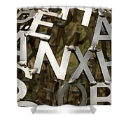 Artistic Letters Shower Curtain