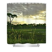 Artistic Lush Marsh Shower Curtain