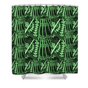 Artistic Sparkle Floral Green Graphic Art Very Elegant One Of A Kind Work That Will Show Great On An Shower Curtain