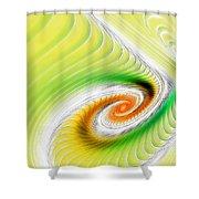 Artistic Spiral Shower Curtain