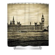Artistic Vision Of Elizabeth Tower Big Ben And Westminster Shower Curtain