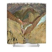 Artist's Brushstrokes Shower Curtain