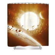 Artists Concept Of 51 Pegasi Shower Curtain