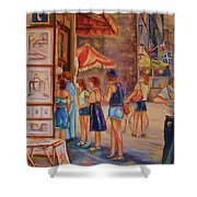 Artists Corner Rue St Jacques Shower Curtain