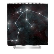Artists Depiction Of The Constellation Shower Curtain