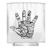 Artists Hand Variation I Shower Curtain