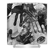 Artist's Hands Shower Curtain