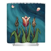 Artists In Bloom Shower Curtain by Brandy Woods