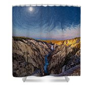 Artist's Point Sunrise Shower Curtain
