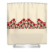 Arts And Crafts Rose Garden Shower Curtain