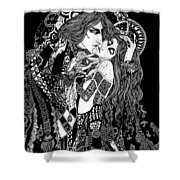 Artspired The Kiss Shower Curtain