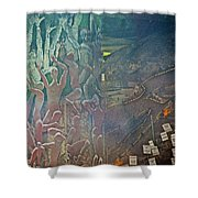 Artwork Representing The Disappeared Located Under A Bridge In Buenos Aires-argentina  Shower Curtain