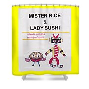 Mr Rice And Lady Sushi From Wheat-shire Shower Curtain
