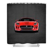 Jaguar F Type Shower Curtain
