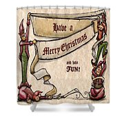 Merry Christmas Elves Shower Curtain