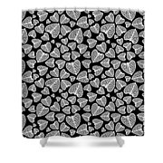 Black And White Leaf Abstract Shower Curtain