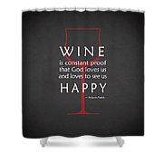 Wine Glasses 2 Shower Curtain