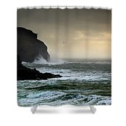 Ochre Sky's And Angry Seas 1 Shower Curtain