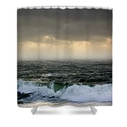 Ochre Sky's And Angry Seas 2 Shower Curtain